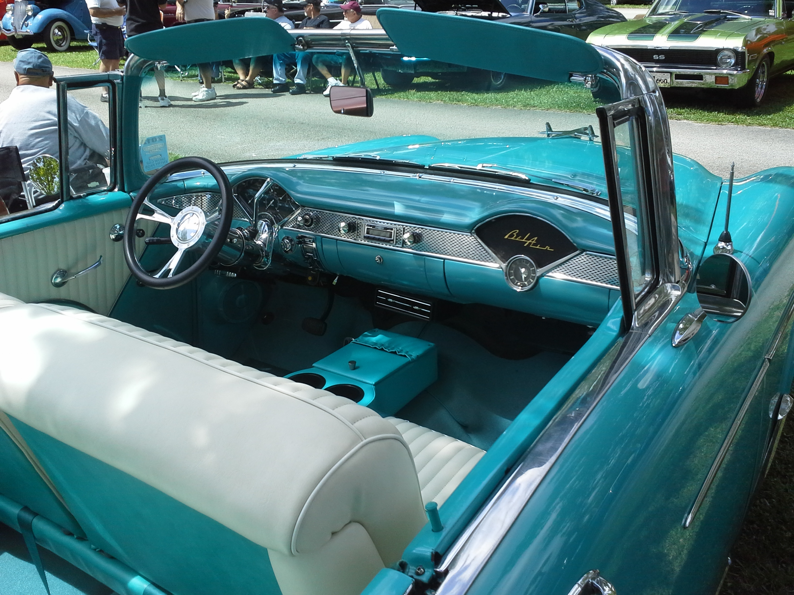 Interior of classic car