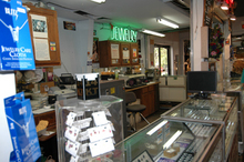 Store photo of jewelry counter