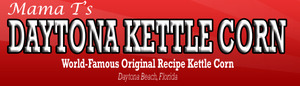 Daytona kettle corn logo, world-famous original recipe kettle corn