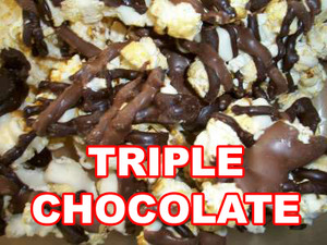 Triple chocolate kettle corn